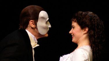 "Sierra Boggess with Hugh Panaro at ""The Phantom Of The Opera Broadway 25th Anniversary."