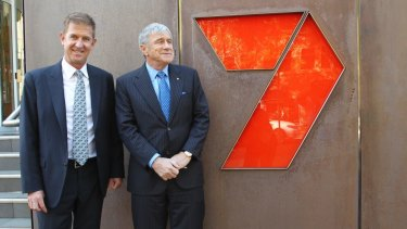 Seven West Media chief executive Tim Worner (left) and chairman Kerry Stokes, are steering the network through tough times for free-to-air television.