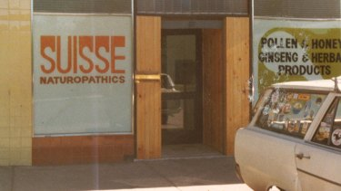 The first 'Suisse' shop in Airport West in Melbourne in the 1970s.