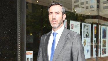 Liam Gordon Murphy outside court.