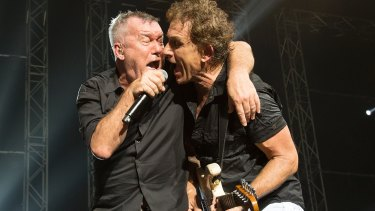 Jimmy Barnes and Ian Moss perform in Cold Chisel.