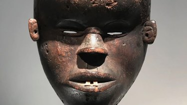 A 19th-century Dan Mano mask from Liberia sold at the Brafa art fair in Brussels.