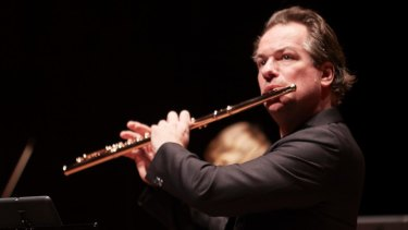Inspiring: Flautist Emmanuel Pahud on stage with the Australian Chamber Orchestra.