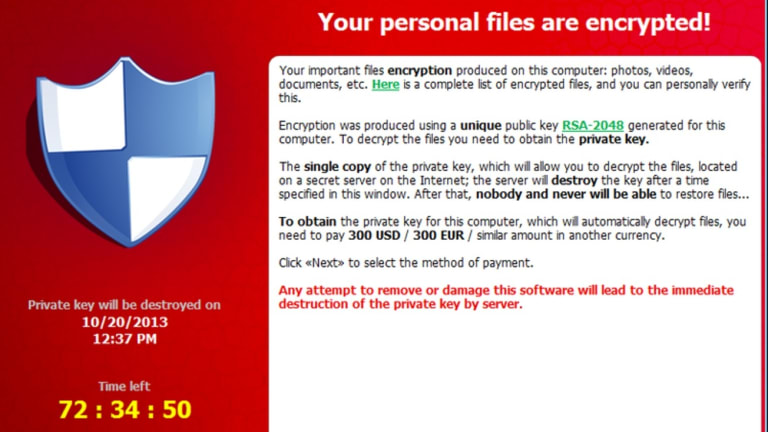 The Cryptolocker software.