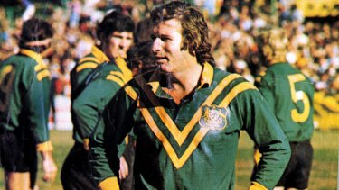 Fonder memories: Graeme 'Changa' Langlands played 45 Tests for Australia, including 15 as captain.