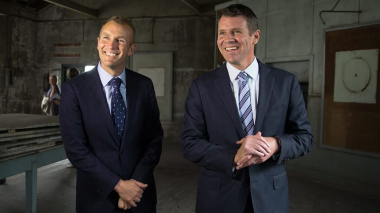 NSW Premier Mike Baird and Planning Minister Rob Stokes at White Bay Power Station in October last year.