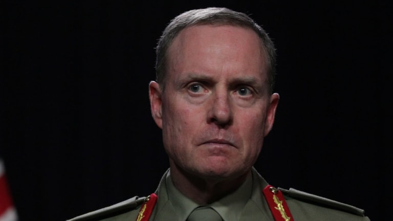 Lieutenant-General David Morrison will step down as Australian Army chief in May.