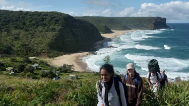 """Rangers are not as visible"": walkers on the Coast Track in the Royal National Park."