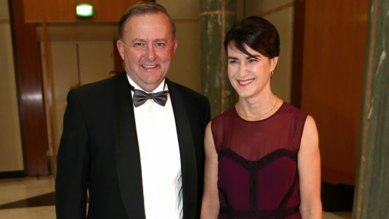 With Tebbutt in June this year, attending the Midwinter Ball at Parliament House.
