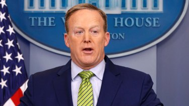 White House press secretary Sean Spicer pushed Trump's message on the media's reporting on terrorist attacks.