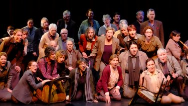 Members of the Canberra Choral Society as the Handel in the Theatre opera chorus in The Vow.