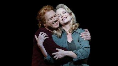 Lise Lindstrom as Brunnhilde and Stefan Vinke as Siegfried in Opera Australia's 2016 production of Siegfried.