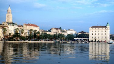 The city of Split on Croatia's Dalmatian Coast.