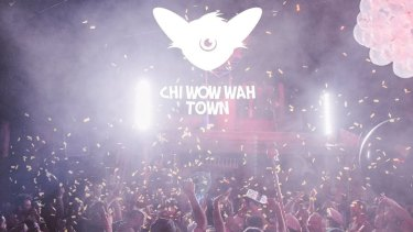 Partygoers in action at Chi Wow Wah Town.