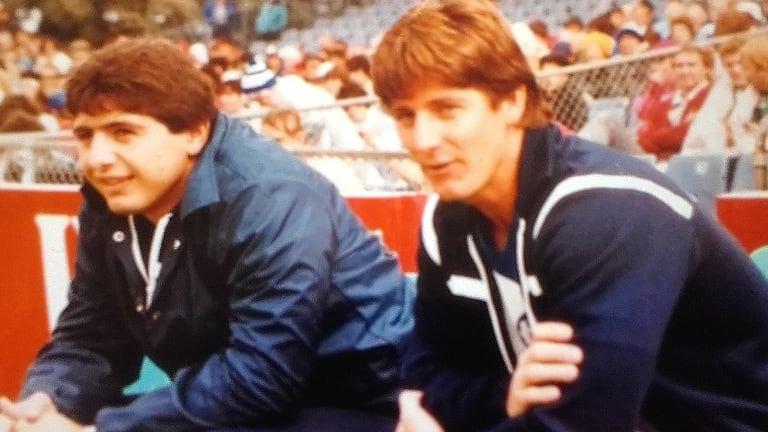 Proud Bulldog: Ray Dib (left) cut his teeth at Belmore as a lower-grade trainer and junior rep player.
