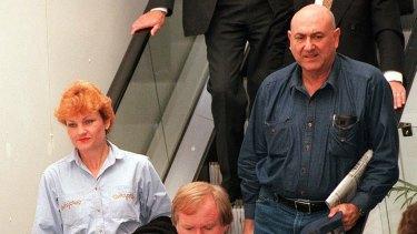 Pauline Hanson with her former adviser John Pasquarelli.