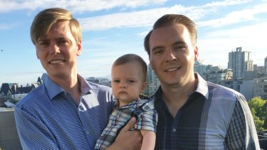 Kyle (left) and Kent Stewart's marriage is not recognised in Australia.