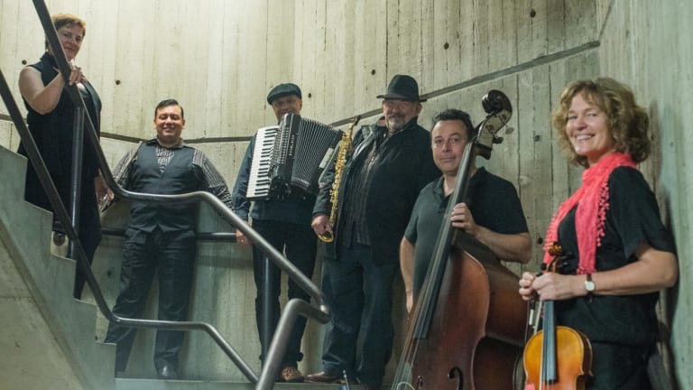The members of Alturas - Gaye Thomas (left), Daniel Rojas, Gary Daley, Greg Gibson, Stan Valacos and Inge Courtney-Haentjes - have helped create the band's special sound and they deliver plenty of solos.