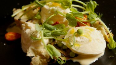 House-cured artichokes with buratta