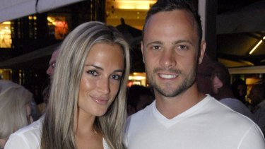 Oscar Pistorius and Reeva Steenkamp at a party in January 2012.