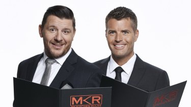 Not impressed ... My Kitchen Rules judges Manu Feildel and Pete Evans.