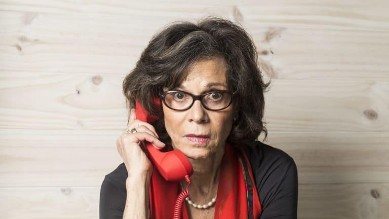 Devra Davis uses an old-school handset to get her message across.