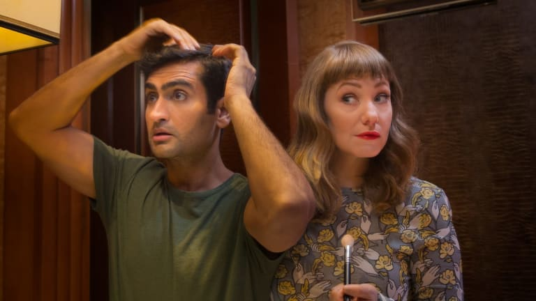 Kumail Nanjiani and his wife Emily V. Gordon. He is the star of <i>The Big Sick</i>, which they wrote together based on their own experiences.