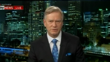 Andrew Bolt remained stony-faced for the duration of the short interview, before he cut his guest's microphone off.