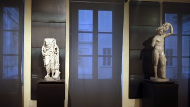 """A kind of """" classics coverup """" is causing a political flap in Italy, after ancient nude statues in a museum were hidden from view so the Iranian president would not take offense."""