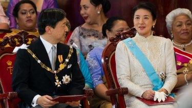 Crown Prince Naruhito and Crown Princess Masako at the coronation of King Tupou VI of Tonga in July 2015.