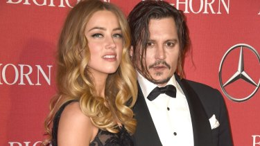 Amber Heard and Johnny Depp in early 2016.
