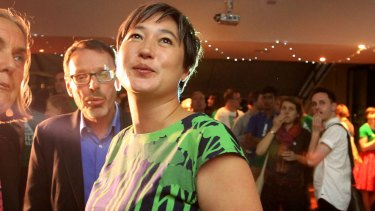 Jenny Leong at the NSW election in May 2015.