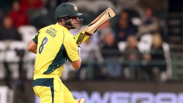 Mitchell Marsh in the fifth ODI.