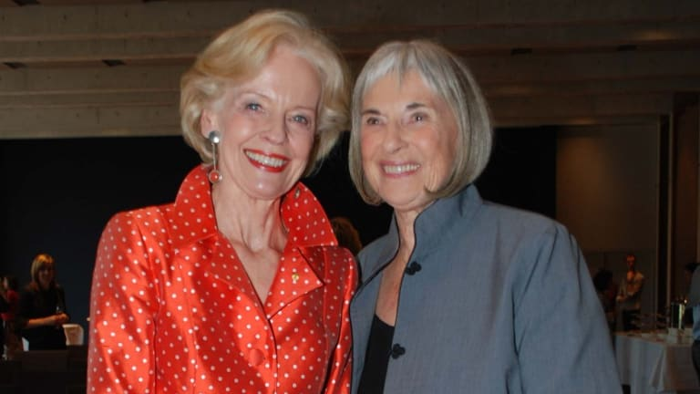 Former governor-general Quentin Bryce (left) and Betty Churcher at the launch of the arts administrator's book, <i>Notebooks</i>, in 2011.