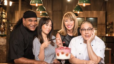 Mark Olive, Melissa Leong, Maeve O'Meara, Dan Hong host <i>The Chefs' Line</i>.
