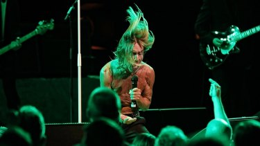 Iggy Pop performing at the Sydney Opera House.