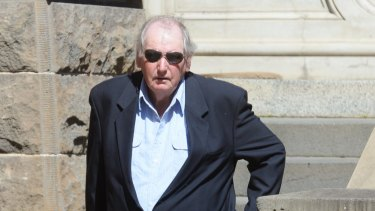 John O'Connell has walked from court after he was found not guilty of the rape of a 16-year-old girl in 1967.
