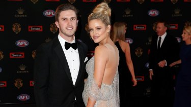 Carlton's Marc Murphy with pregnant wife Jesse.