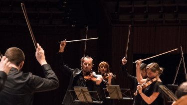 Richard Tognetti leads the Australian Chamber Orchestra.