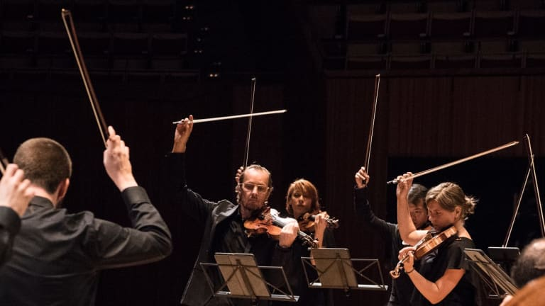 Richard Tognetti leads the Australian Chamber Orchestra.