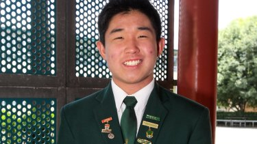 James Ruse school leader Justin Wu made the honour roll in five subjects.