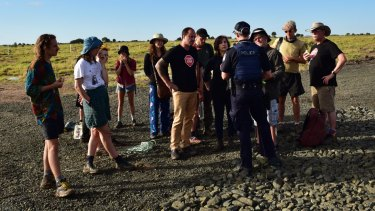 Seventeen people were charged with trespass and failing to comply with police after the protest at the mine site.