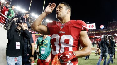 Jarryd Hayne during his time in the NFL with the San Francisco 49ers.