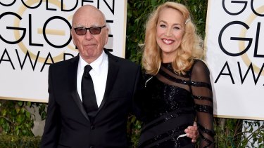 Engaged: Rupert Murdoch and Jerry Hall.