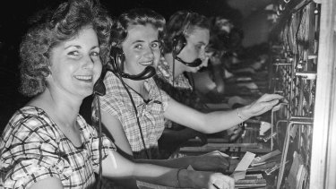 Telephone operators at the GPO.