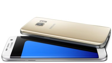 The Samsung Galaxy S7 Edge.