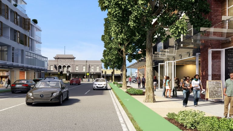 How Tebbutt Street at Taverners Hill will look after the redevelopment.