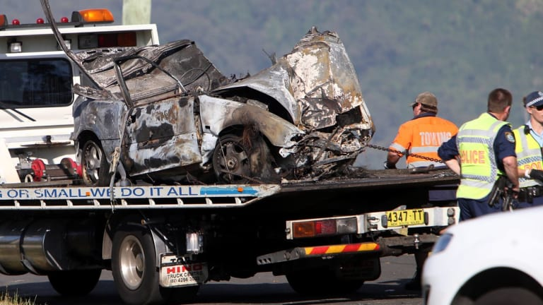 Brave residents rescued a man from a burning car on Friday morning near Dapto.
