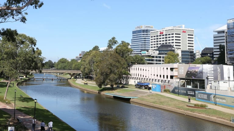 The riverfront site of the new Powerhouse Museum in Parramatta.