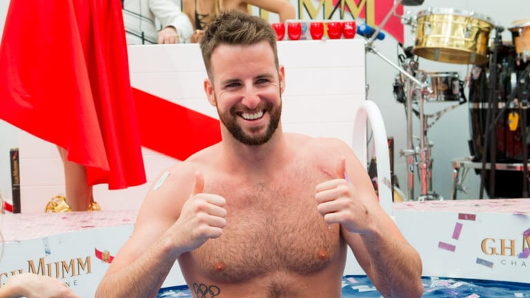 Wet work: James Magnussen is quietly working his way back to the top.